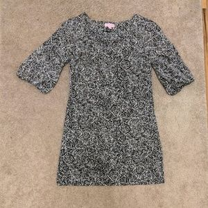 Lilly Pulitzer Black and White Rose Dress -Size 2-